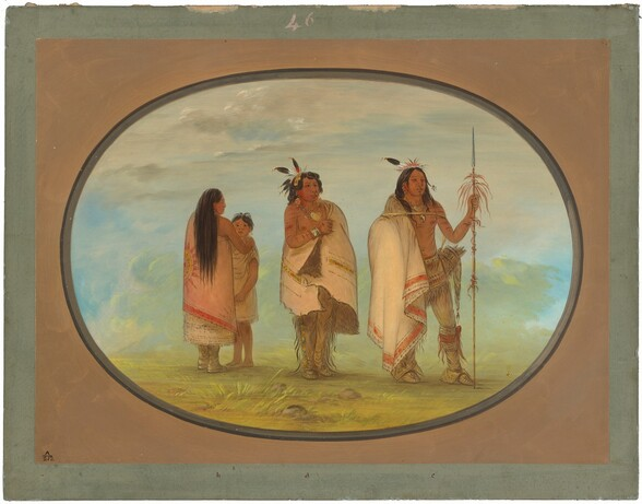Weeco Chief, His Wife, and a Warrior