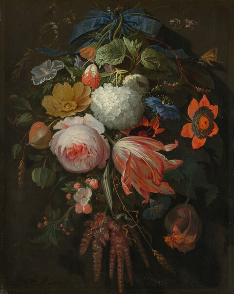 A Hanging Bouquet of Flowers
