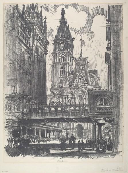 The City Hall and Bridge across Market Street