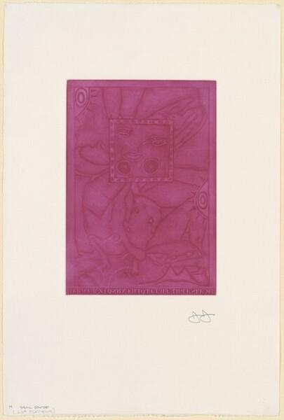 Untitled (Purple Mezzotint) [trial proof H]