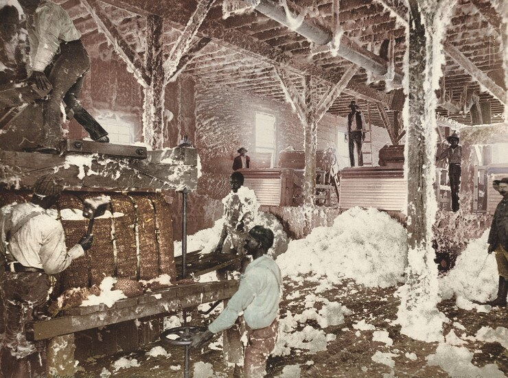 American 19th Century, Detroit Photographic Company, Mississippi Cotton Gin at Dahomey, published 1899
