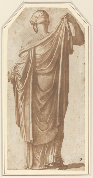 Female Roman Statue Seen from the Back