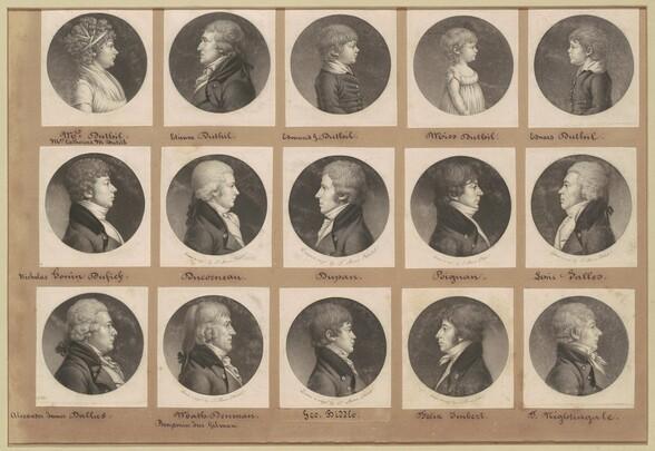 Saint-Mémin Collection of Portraits, Group 19