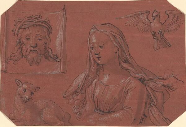 Studies of Sudarium and Saint Agnes