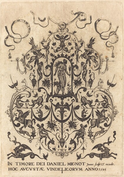 Title Page: Large Pendant, Venus and Amor at Centre