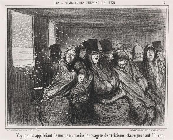 Voyageurs appréciant de moins en moins les wagons de troisième classe...