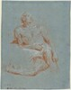 Male Nude Leaning on His Elbow (verso)
