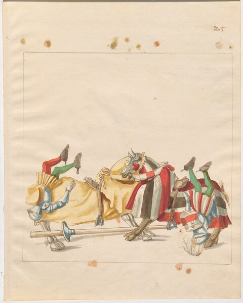 Freydal, The Book of Jousts and Tournaments of Emperor Maximilian I: Combats on Horseback (Jousts)(Volume I): Plate 24