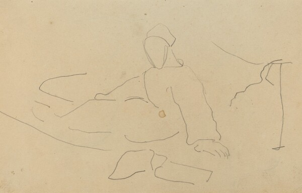 Figure Seated on the Ground [recto]