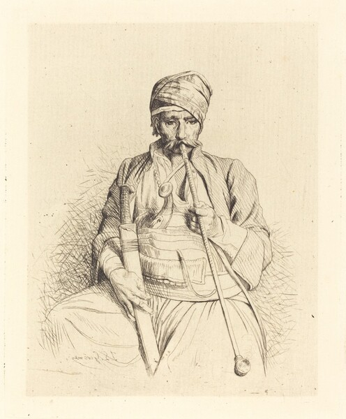 Seated Arab with Pipe