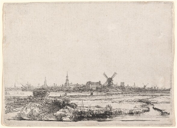View of Amsterdam from the Northwest