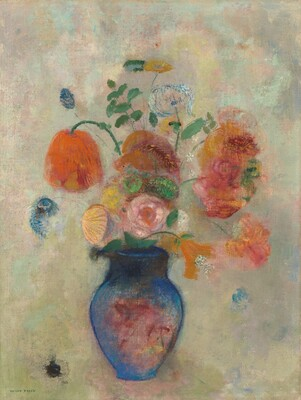 Odilon Redon, Large Vase with Flowers, c. 1912