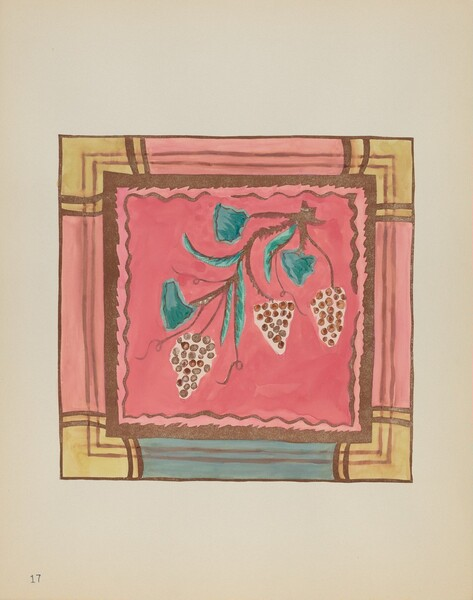 Plate 17: Grapes, Altar Panel: From Portfolio Spanish Colonial Designs of New Mexico