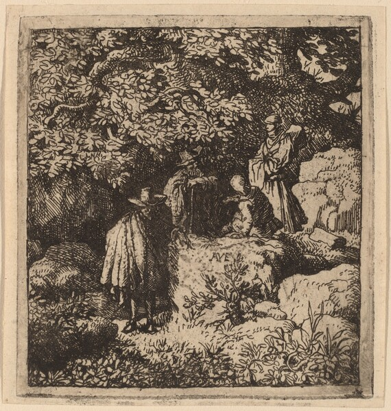 Four Figures under a Tree