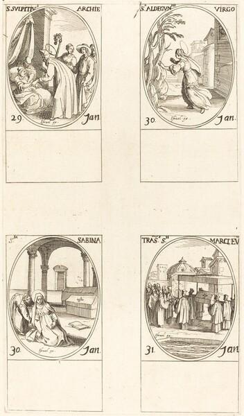 St. Sulpicius; St. Aldegondes; St. Sabina; The Calling of St. Mark