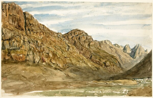 Rock Cliffs along the Romanche