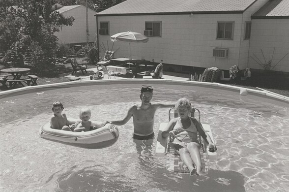 Police officer with family, Long Island, New York