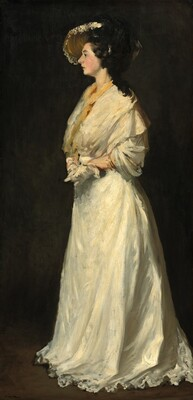 Young Woman in White