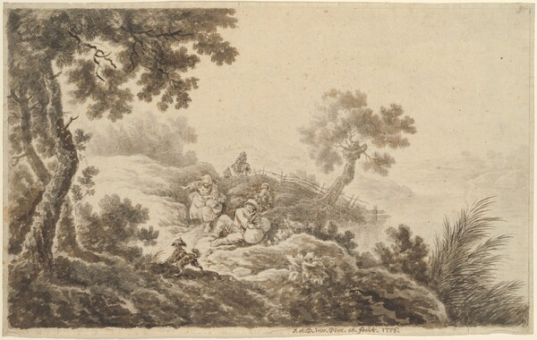 Landscape with Travelers