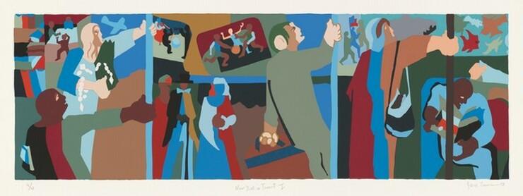 Jacob Lawrence, New York in Transit I, 1998