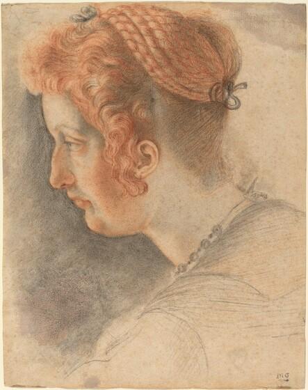 Sigismondo Coccapani, Head of a Woman in Profile, c. 1620