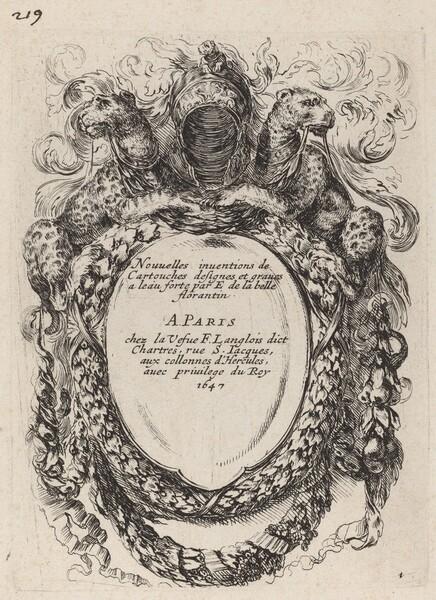Title Page for Nouvelles inventions de Cartouches