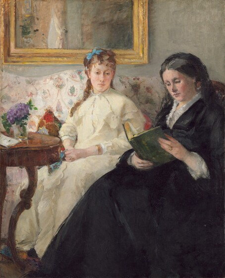 <p>Berthe Morisot, The Mother and Sister of the Artist, 1869/1870