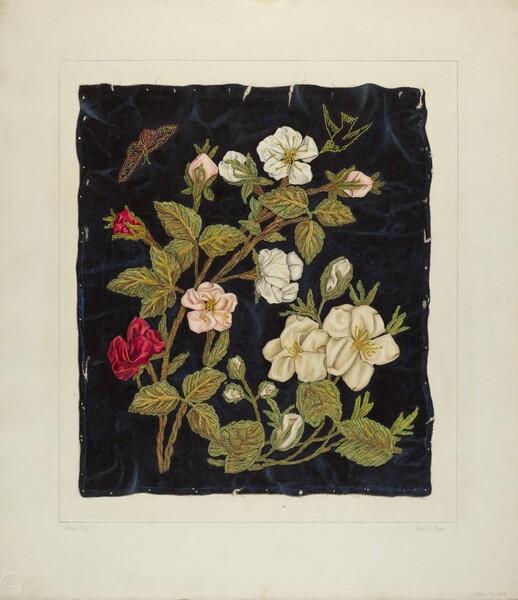 Handmade Flowers on Black