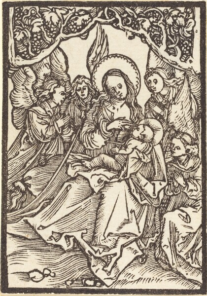 The Virgin Nursing the Christ Child  with Four Angels
