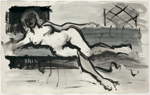 Untitled (Reclining Nude) [verso]