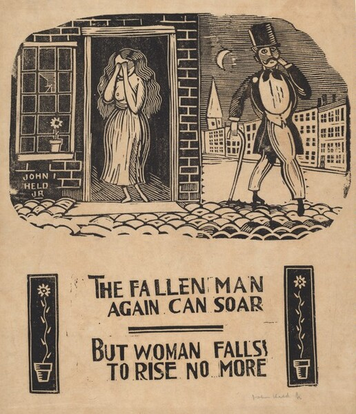The Fallen Man Again Can Soar, But Woman Falls To Rise No More