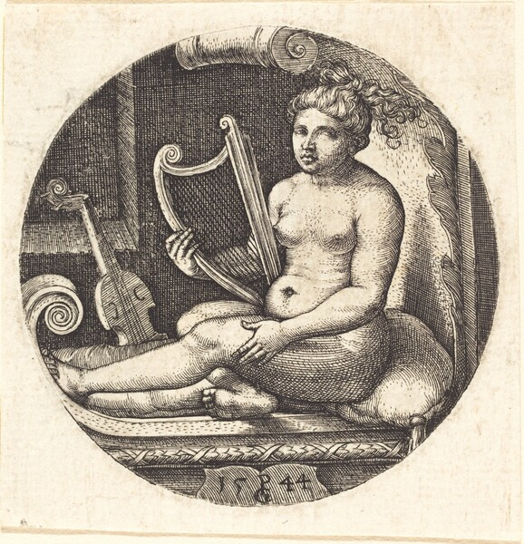 Woman with a Harp