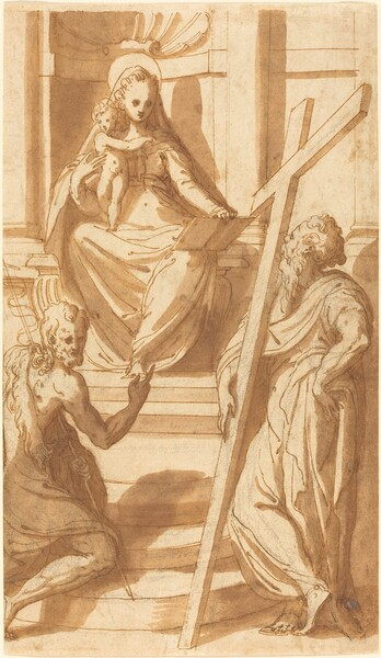 The Madonna and Child Enthroned with Saint John the Baptist and Saint Andrew
