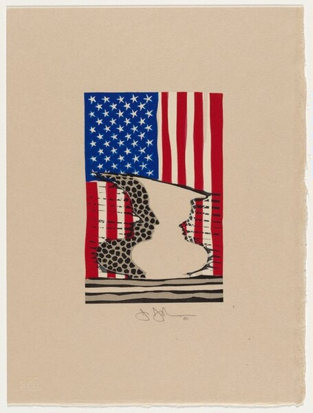 Flag and Vase