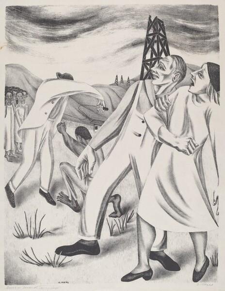 Scene in Texas Slavery Days