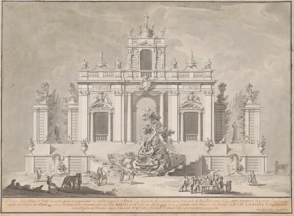 Disegno della Pria Macchina (Design for the First Machine of the Chinea in 1774)