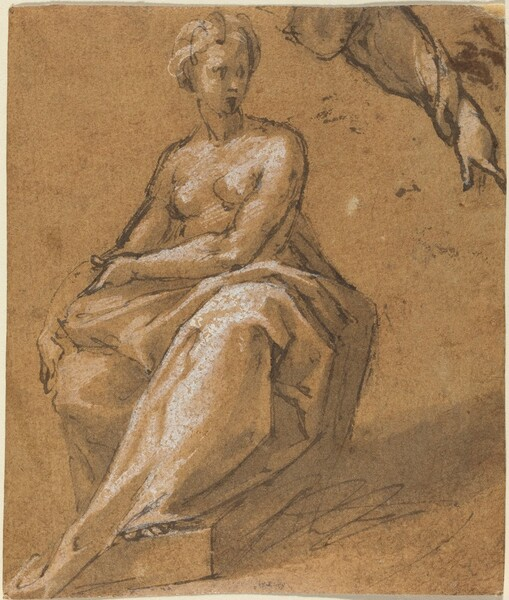 Seated Nude with Drapery