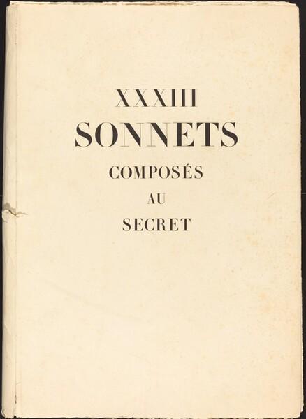 XXXIII Sonnets Composés au Secret