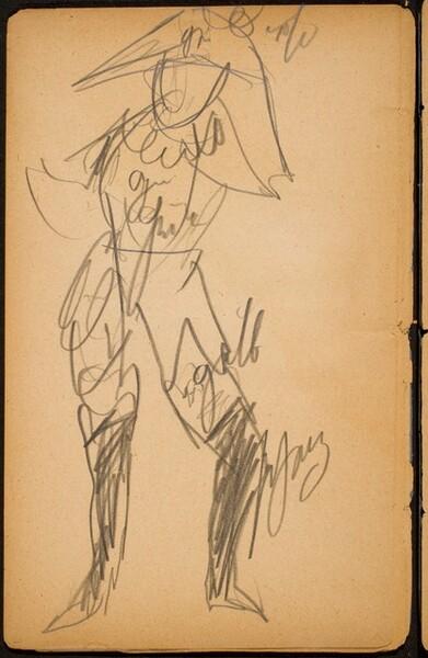 Figur im Harlekinskostüm (Figure in Harlequin