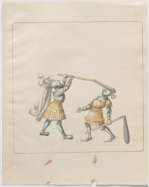 Freydal, The Book of Jousts and Tournament of Emperor Maximilian I: Combats on Foot (Jousts)(Volume III): Plate 127