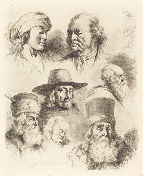 Seven Studies of Heads