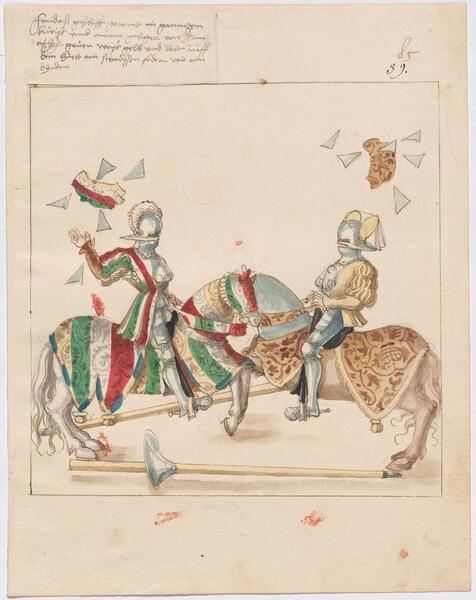 Freydal, The Book of Jousts and Tournaments of Emperor Maximilian I: Combats on Horseback (Jousts)(Volume I): Plate 76