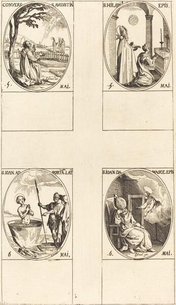 The Conversion of Saint  Augustine; Saint Hilary; Saint John before the Latin Portal; Saint John of Damascus