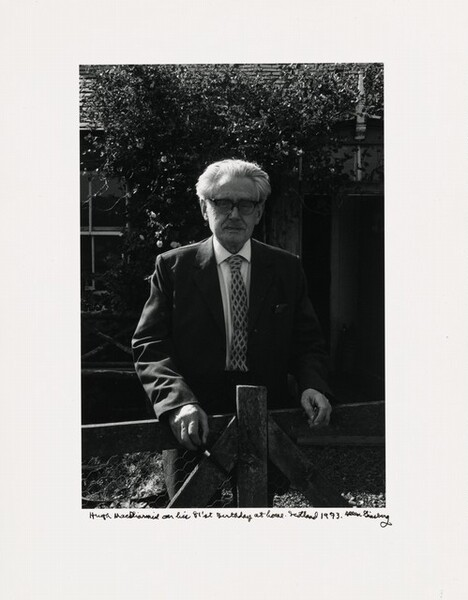 Hugh MacDiarmid on his 81'st Birthday at home. Scotland 1973.