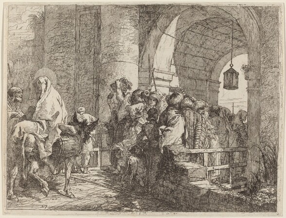 The Holy Family Arriving at a City Gate