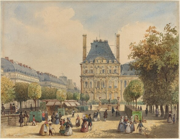 Rue de Rivoli and Pavillon Marsan