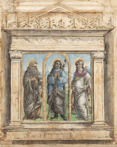 Saint Roch between Saints Anthony Abbot and Catherine of Alexandria