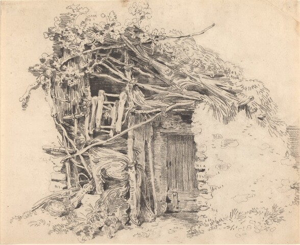Corner of a Rustic Barn