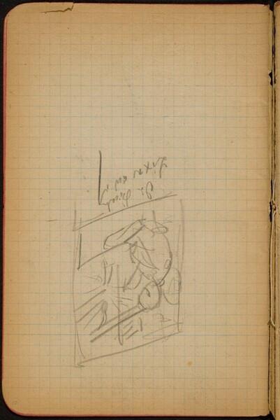 Bezeichnete Skizze mit zwei sitzende Figuren (Two Seated Figures) [p. 10]