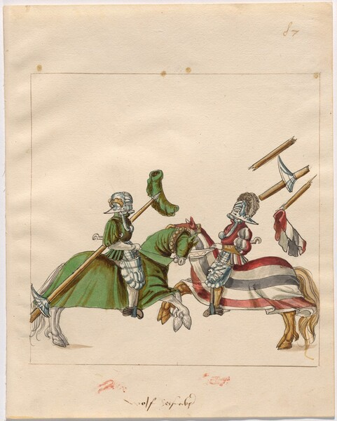 Freydal, The Book of Jousts and Tournament of Emperor Maximilian I: Combats on Horseback (Jousts)(Volume II): Wolff Syssnegker, Plate 78